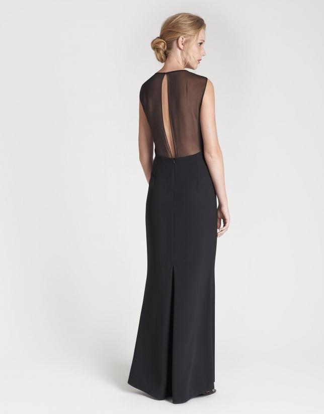 Vestido largo de fiesta negro
