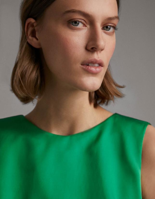 Vestido largo de fiesta verde