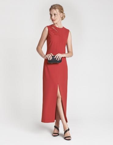 Vestido largo fiesta rojo