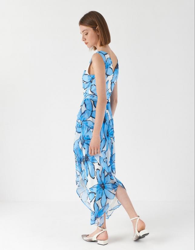 Large floral print flowing dress