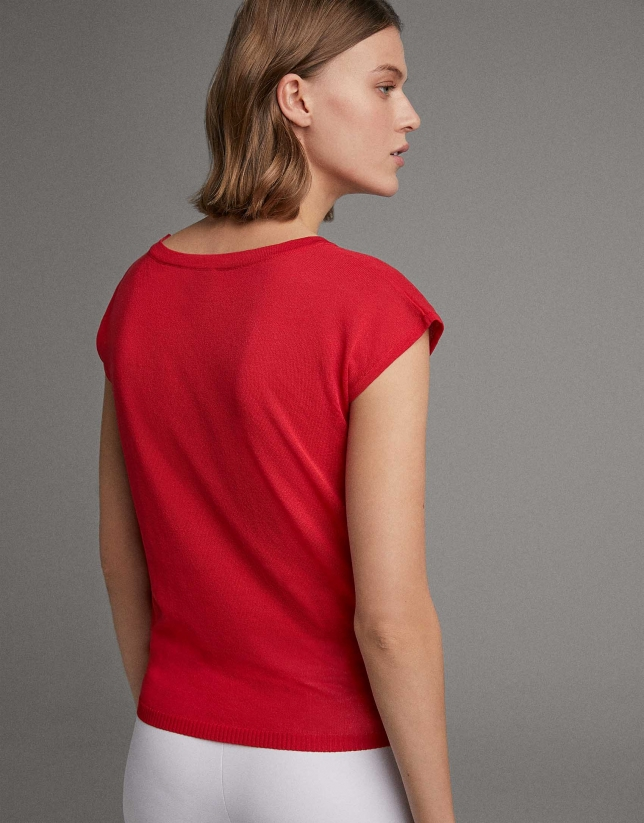 Jersey manga caída rojo