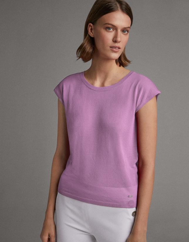 Jersey manga caída rosa