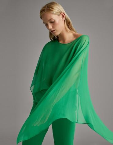 Cubre hombros vestir seda verde