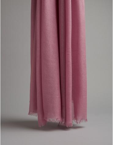 Fular modal rosa con logo