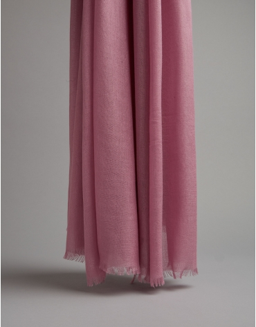 Pink rayon scarf with logos