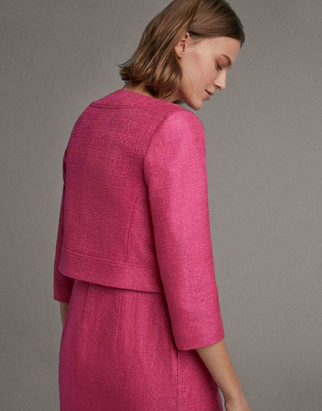 Short fuchsia jacket