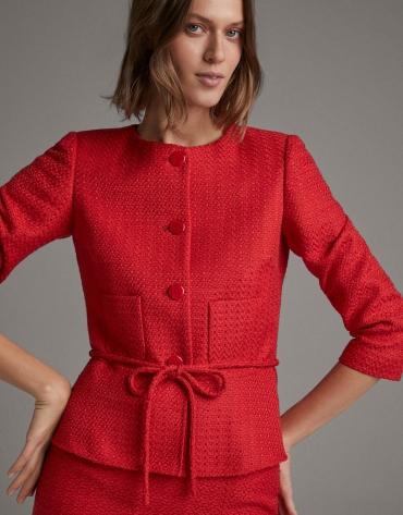 Short carmine red jacket