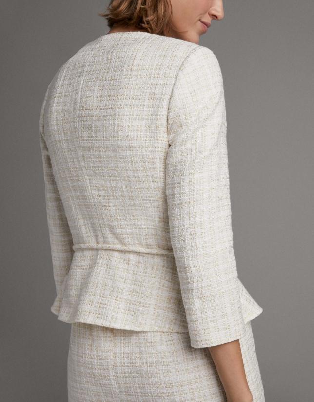 Ivory jacket with belt