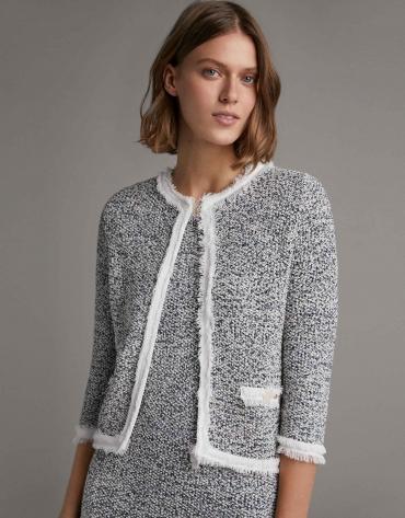 Blue knit jacket