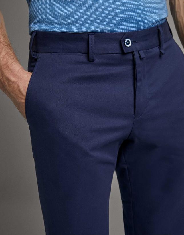 Pantalón chino azul tinta