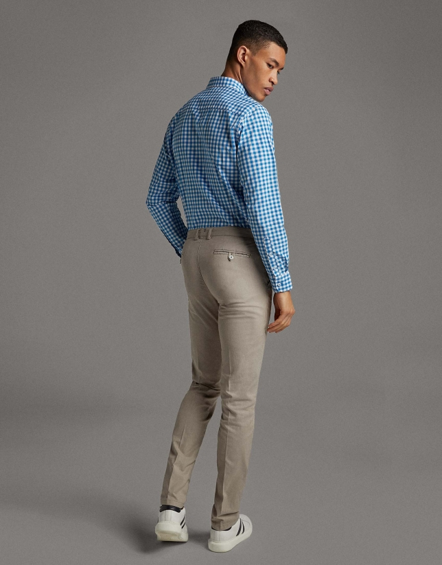 Mink structured chinos