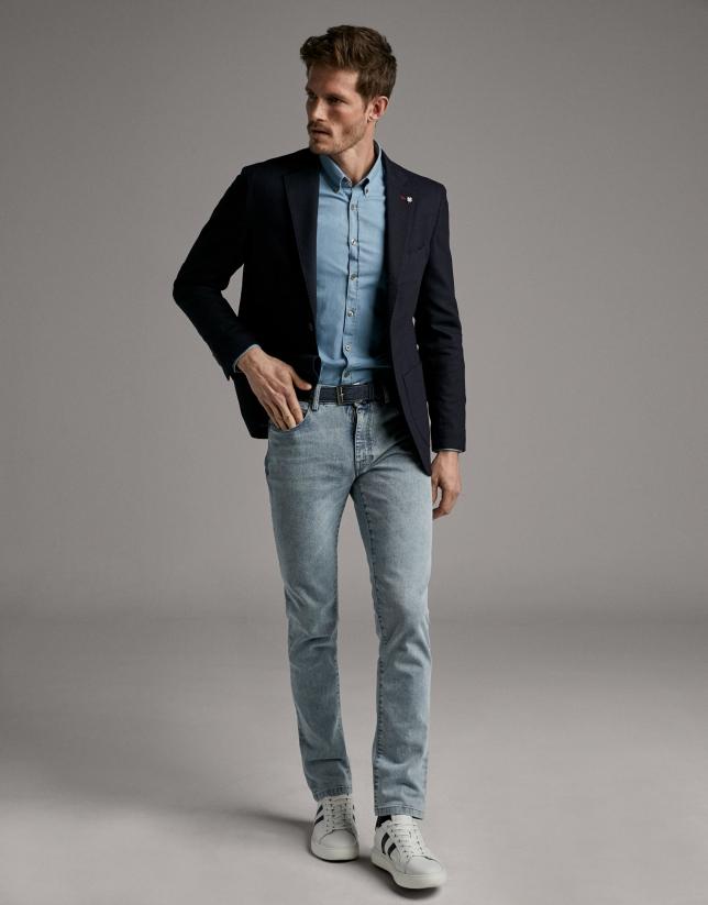 Pantalón vaquero azul blanqueado