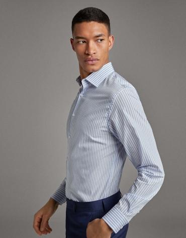 Light blue and white striped dress shirt