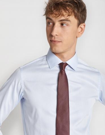 Light blue piqué dress shirt