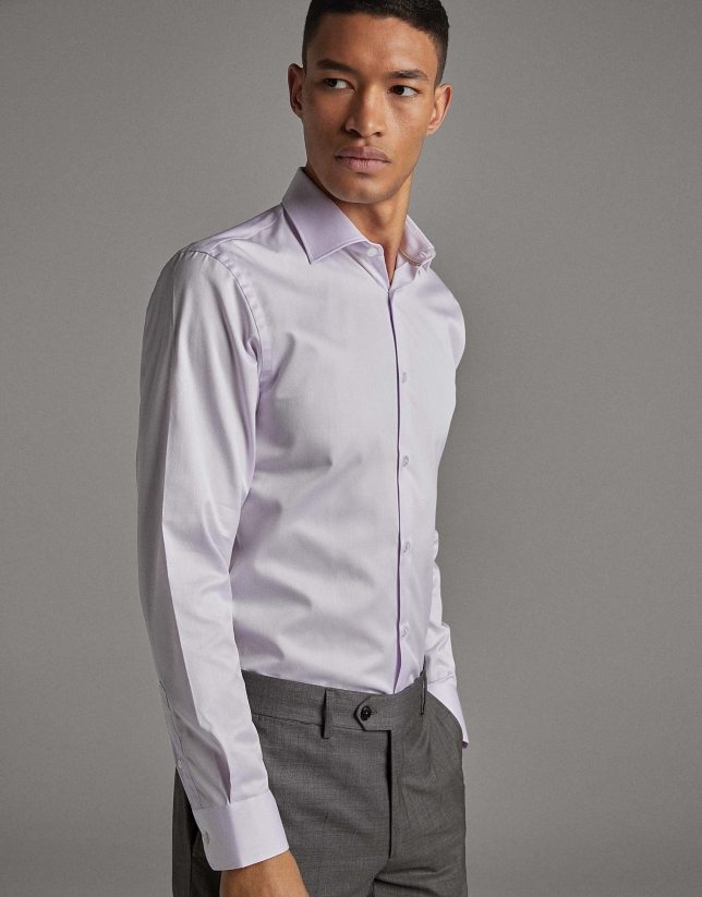 Mauve fake plain shirt