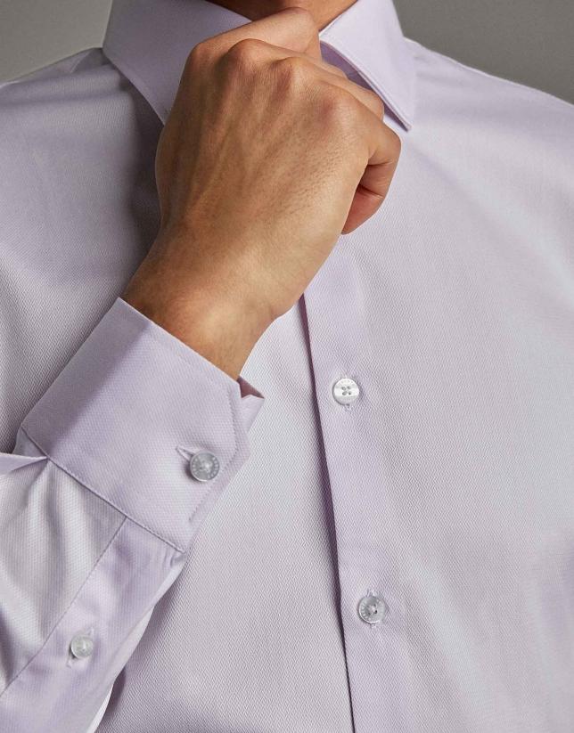 Camisa vestir falso liso malva