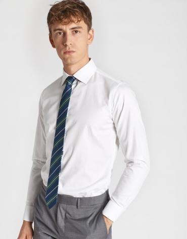 Camisa vestir microestructura rombo blanca
