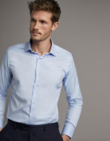 Light blue twill dress shirt