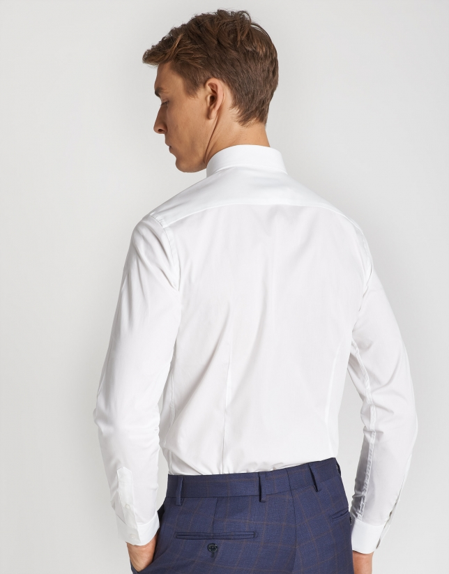 White cotton dress shirt