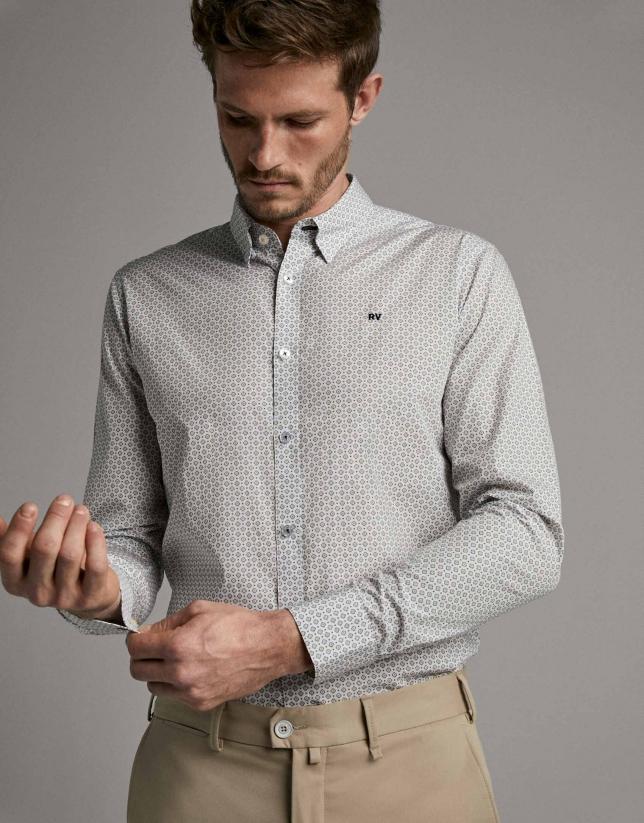 Camisa slim fit hombre