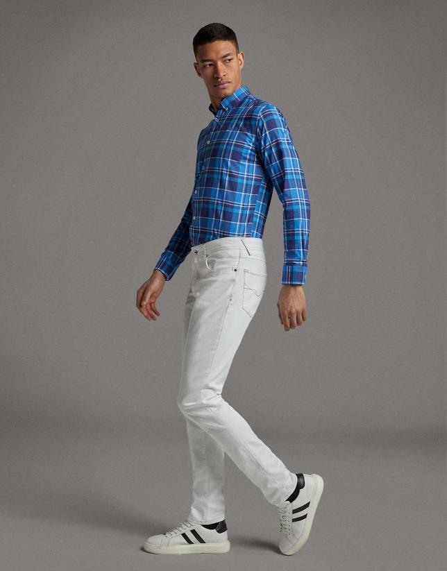 Camisa sport cuadros tonos azules