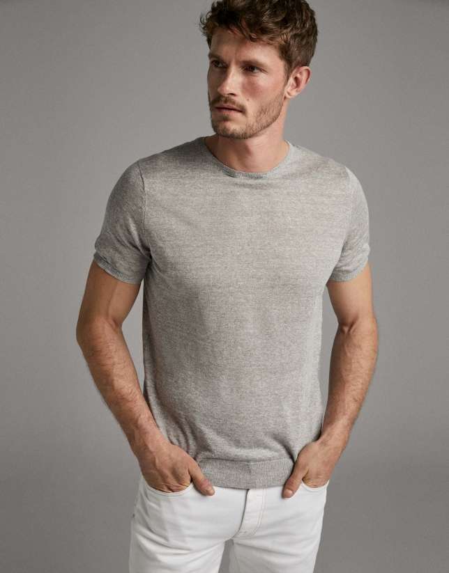 Light gray linen t-shirt