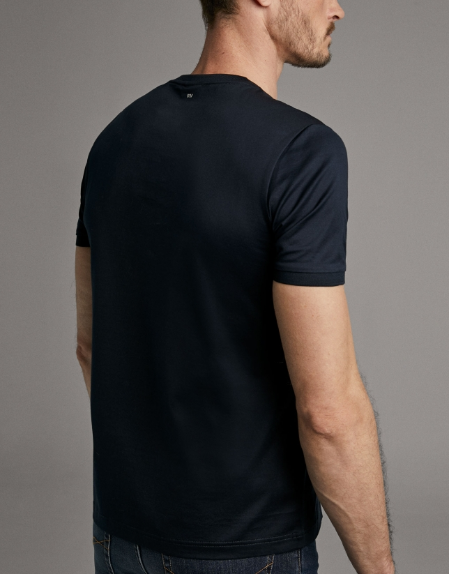 Navy blue cotton t-shirt