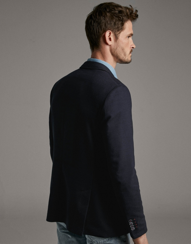 Blue structured sport jacket