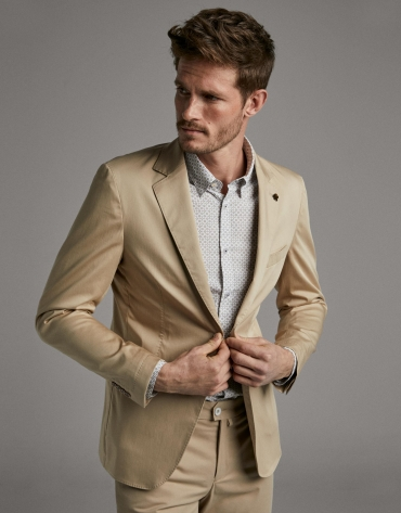 Camel de-structured sport jacket