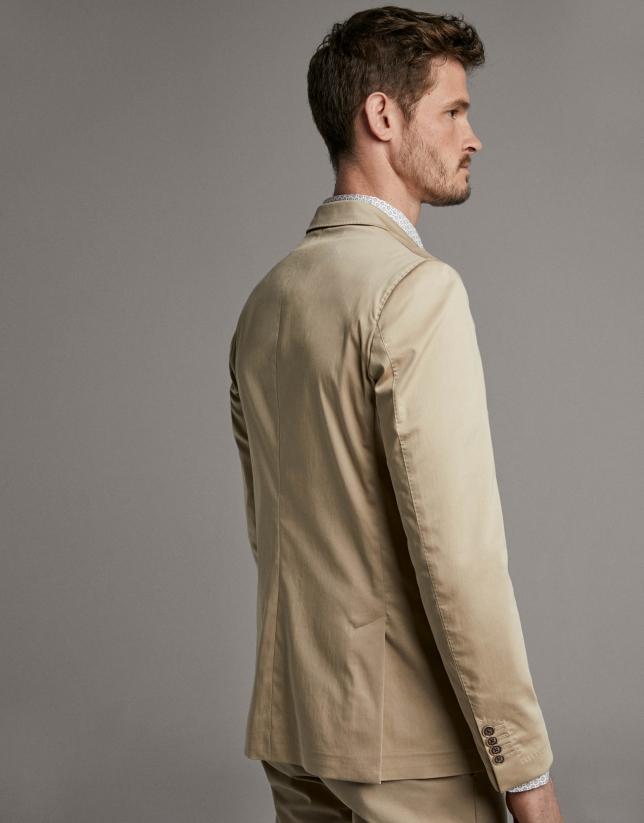 Camel de-structured sport jacket