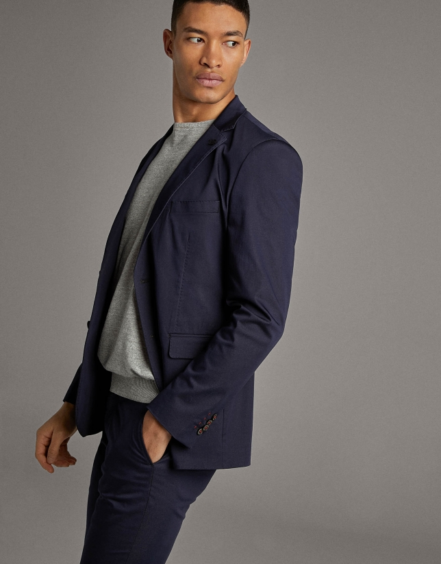 Navy blue de-structured separate sport jacket