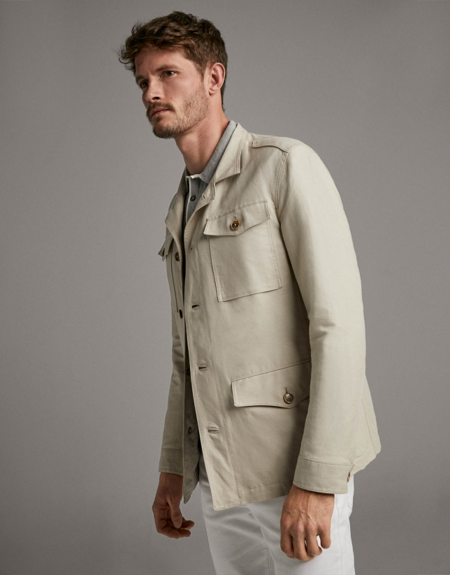 Beige Safari jacket