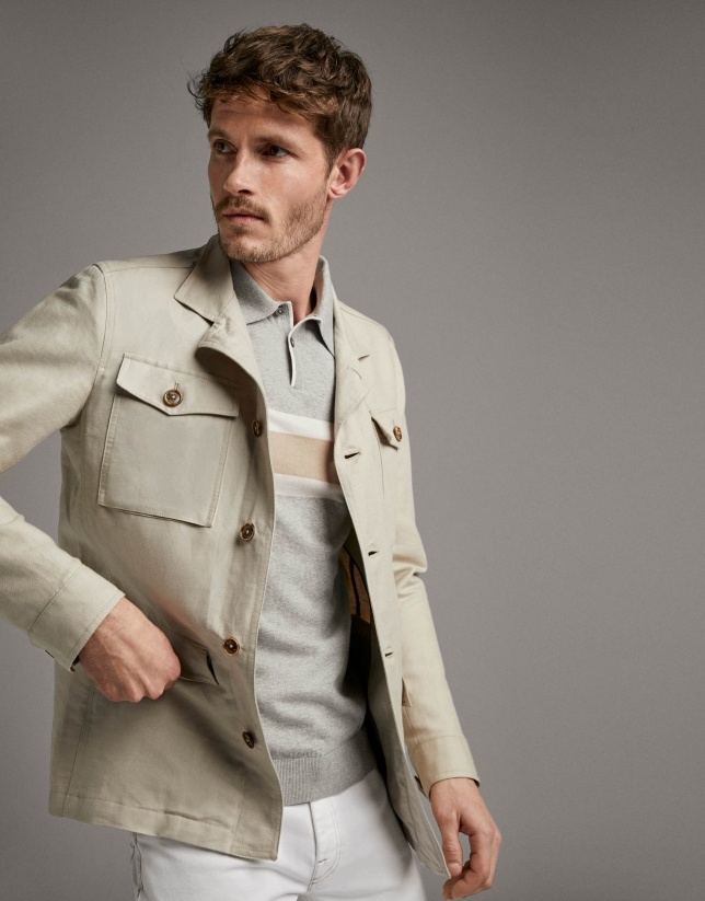 Beige Safari jacket