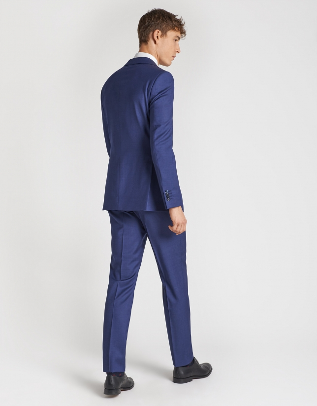 Dark blue, virgin wool, regular-fit suit