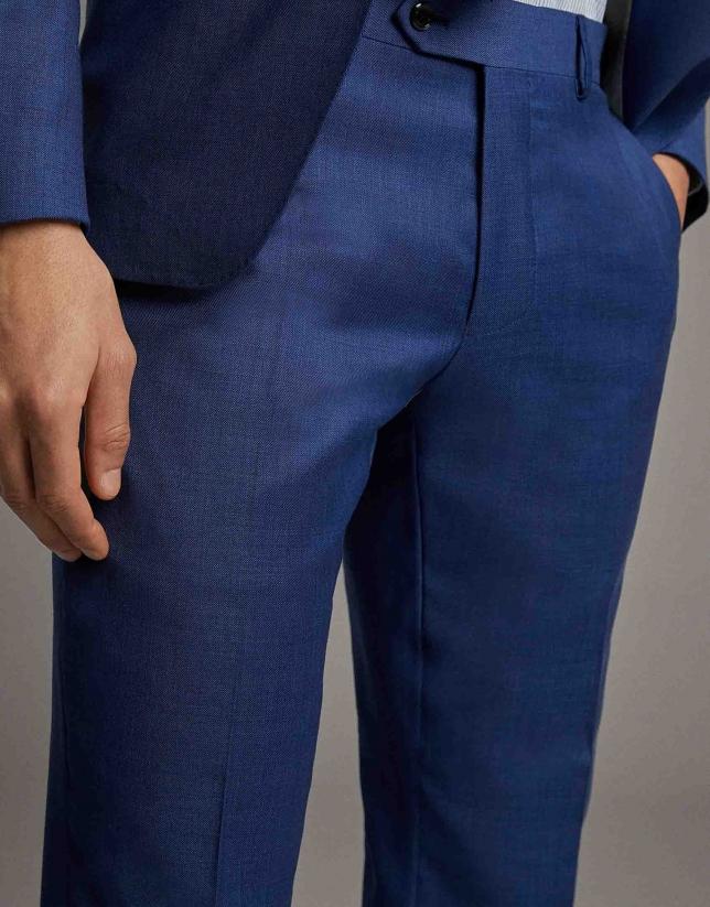 Traje slim dos piezas lana azul