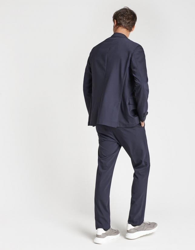 Navy blue, slim fit, suit