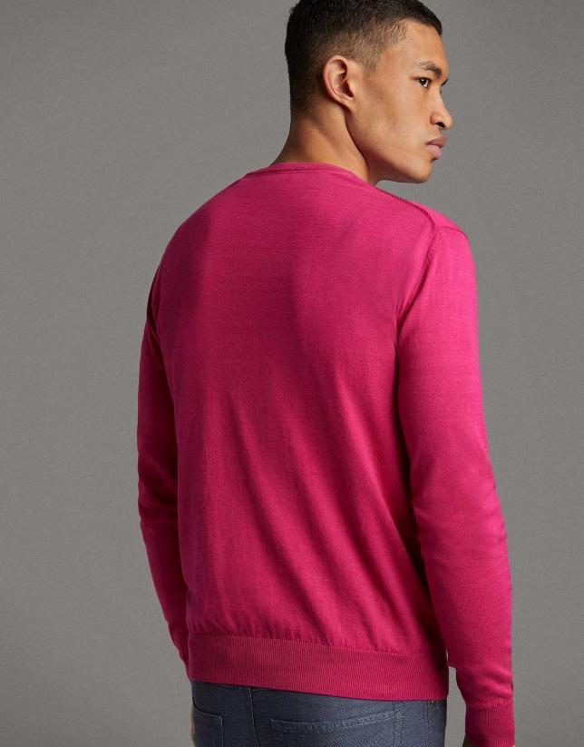 Dark pink turtleneck sweater