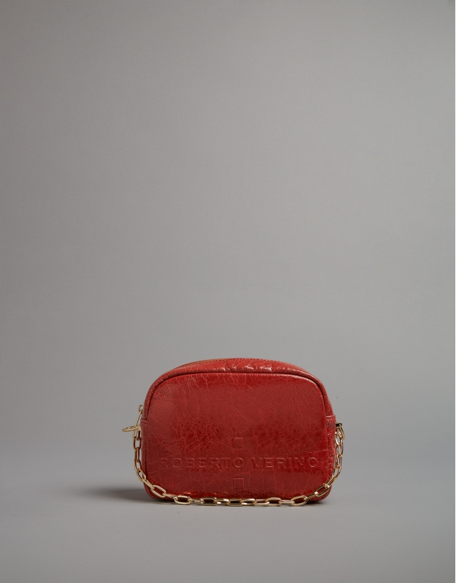 Brick red Bazin shoulder bag