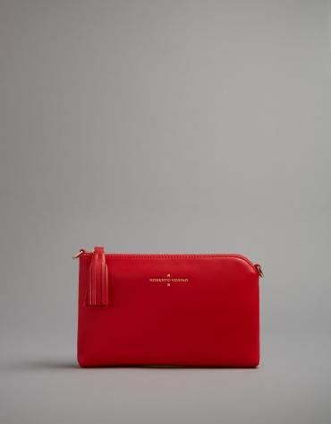 Red leather Lisa Nano clutch bag