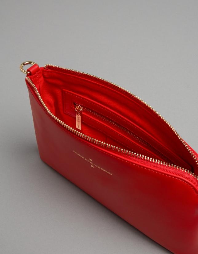Bolso clutch Lisa Nano piel roja