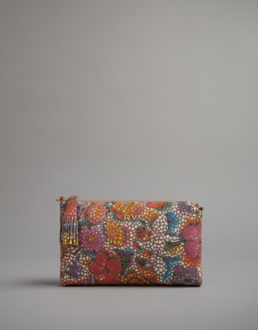 Floral print Lisa Nano clutch bag