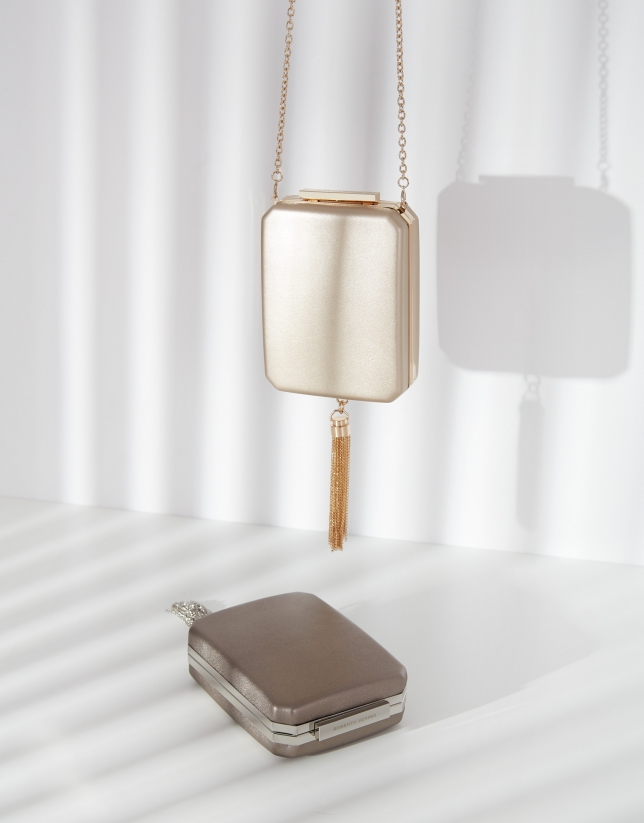 Gold Flute clutch bag