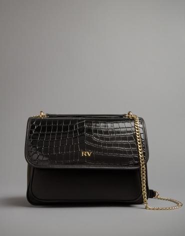 Black leather Big Palace shoulder bag