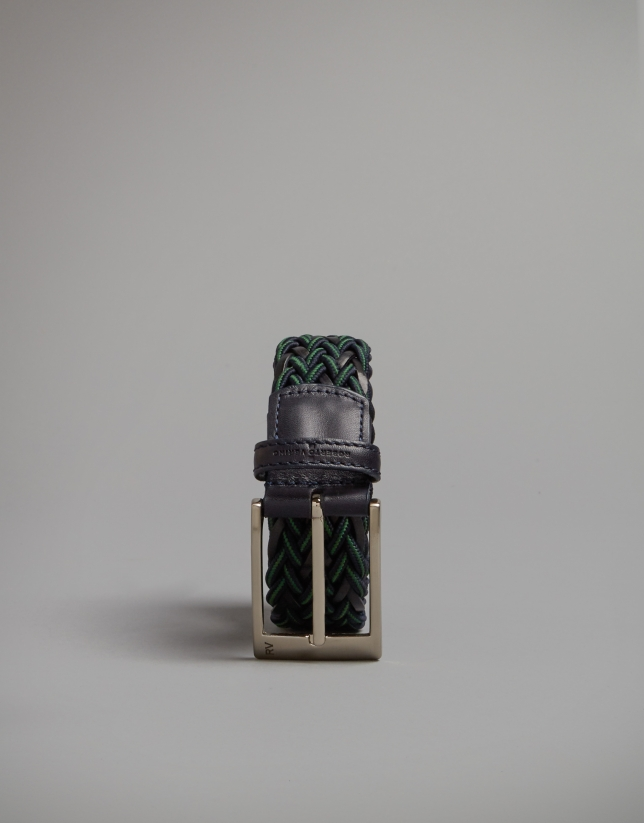 Ceinture torsadée bicolore