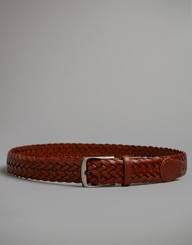 Hazelnut braided belt