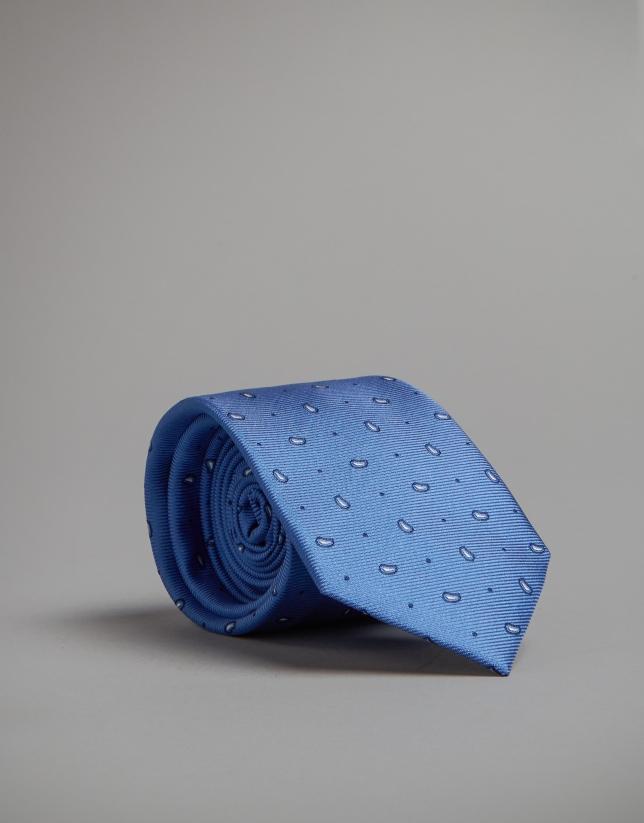 Corbata cachemires tonos azules