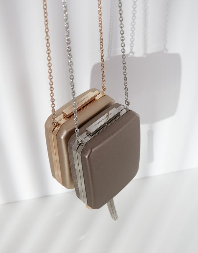 Silver Flute clutch bag