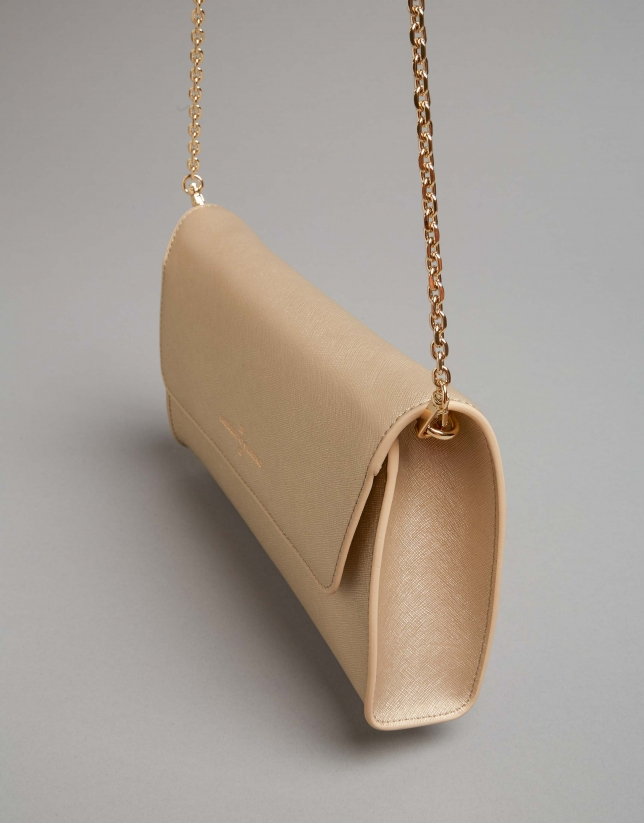 Gold saffiano leather Goodly handbag