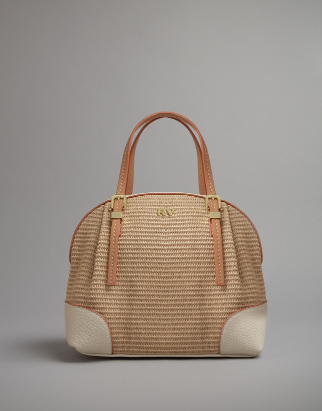 Sac Kuba mini raphia naturel