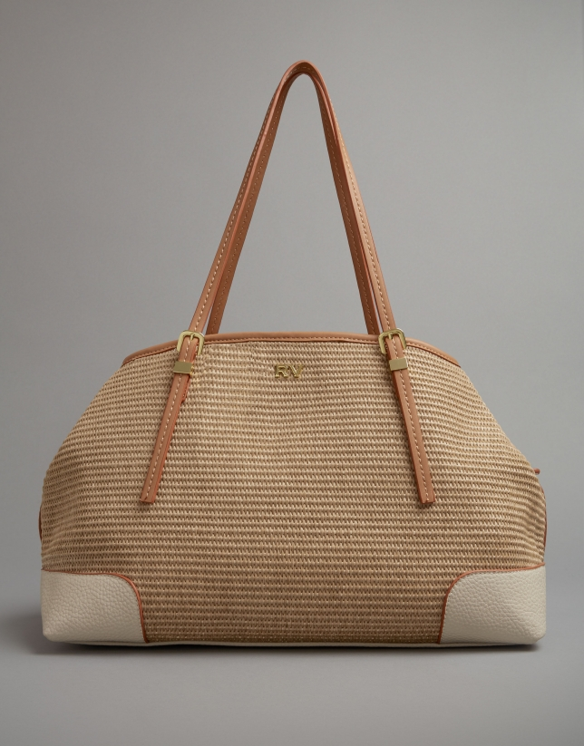 Light beige Kuba hobo bag